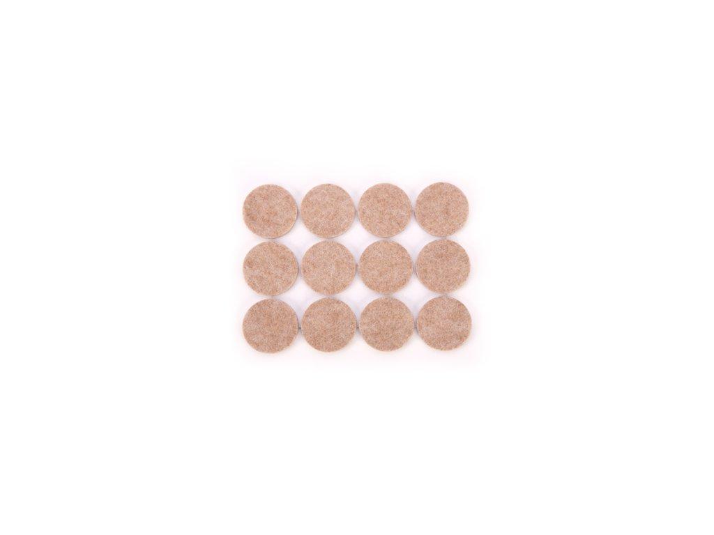 Samolepicí podložky pod nábytek PRESTO pr. 25 mm, 24 ks