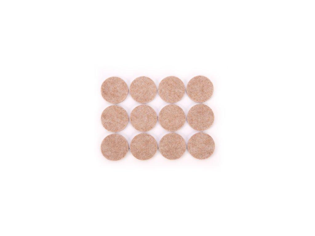 Samolepicí podložky pod nábytek PRESTO pr. 30 mm, 24 ks