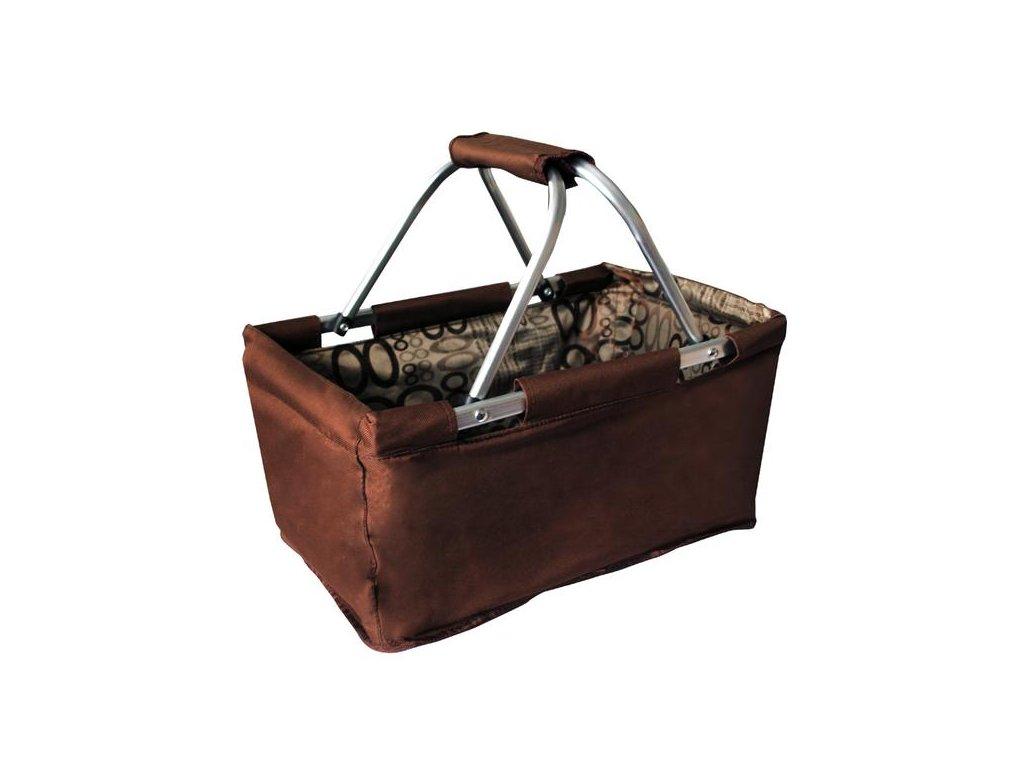 Hand basket polyester, 47x27x23cm, 10kg, brown