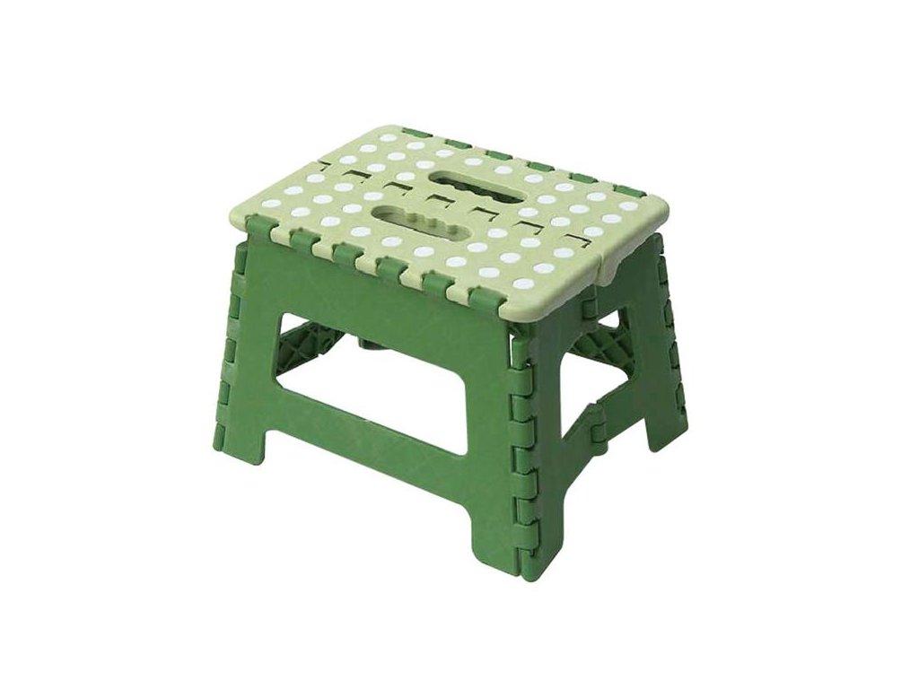 Plastic folding stool,green,max.150kg,29x22x22cm