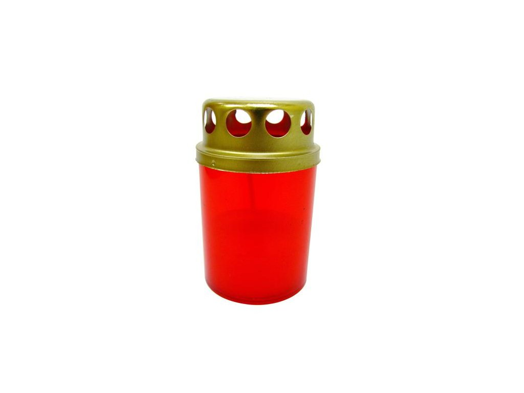 GRAVEYARD CANDLE PLASTIC 1PC / 8HRS / RED