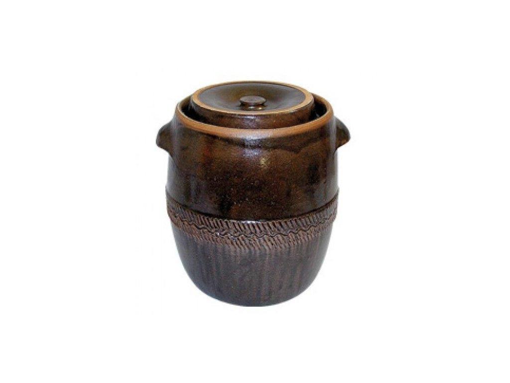 Zelák - sud na zelí 17l + víko, keramika