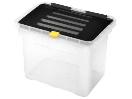 CLIP BOX 9L, PLASTIC, 30X23X20 CM