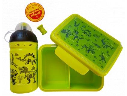 Set Zdravá láhev 0,5 l + Zdravá Sváča, Dinosauři