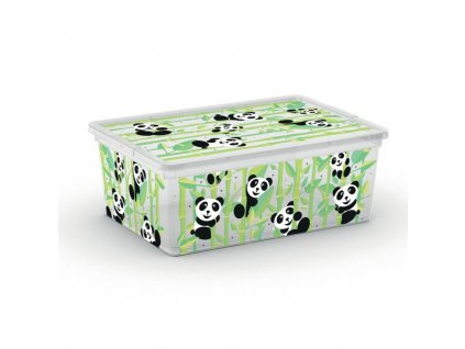 Box 11,0l ANIMALS děts.37x26x15cm, panda, plast