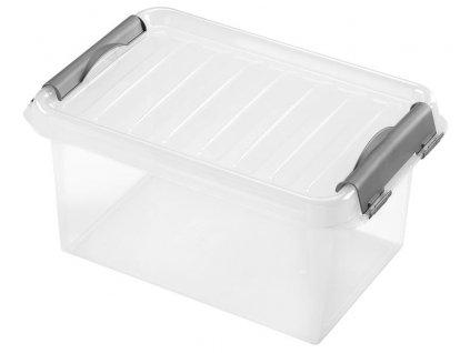 BOX ÚLOŽNÝ S VÍKEM 4L, PLAST, 27,5X18,5X13 CM