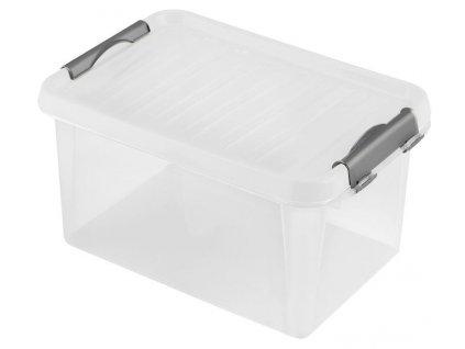 BOX ÚLOŽNÝ S VÍKEM 8L, PLAST, 33X22,5X16CM