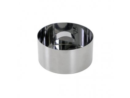 MOUSSE MOLD 8X4CM, ROUND, STAINLESS STEEL