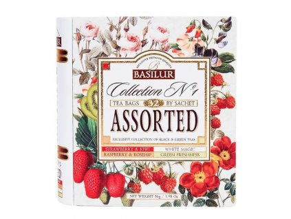 FLAVOURED TEAS IN GIFT-BOOK, 32 BAGS/56G