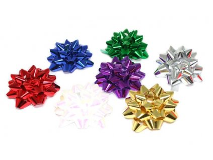 METALLIC ROSETTE 8CM - MIX