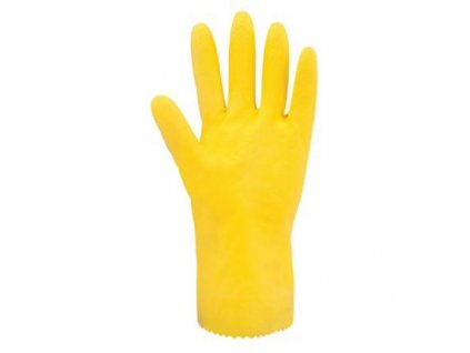 LATEX GLOVES, YELLOW, SIZE S