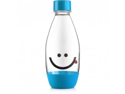 Láhev 0,5l dětská Smajlík, modrá, Sodastream