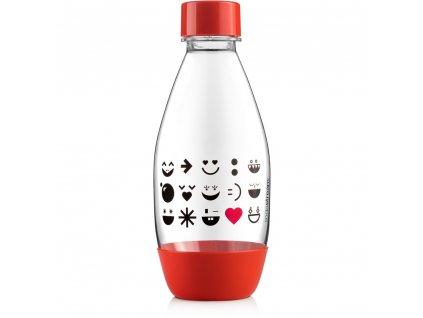 Láhev 0,5l dětská Smajlík, červená, Sodastream