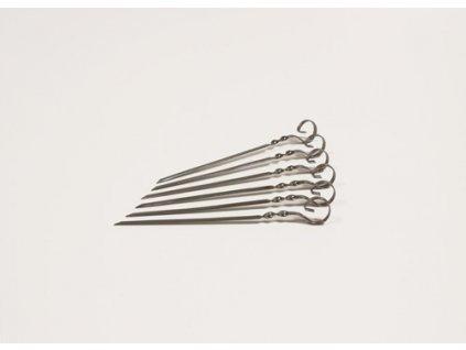 Plochá grilovací jehla 20 cm 6 ks - Český výrobek