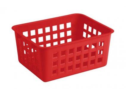 Košík mini, plast, červený