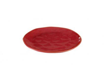 Dezertní talíř LIVING pr. 21 cm, červená