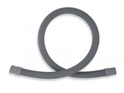 Pračková vypouštěcí hadice rovná šedá 46cm