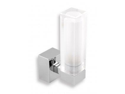 Koupelnové světlo hranaté chrom