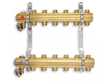 Rozdělovač s regulačními a mechanickými ventily 2 okruhy