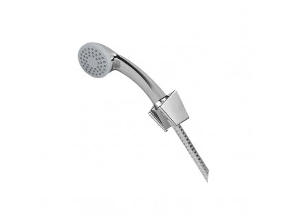 Sprchová souprava, jednopolohová sprcha, sprchová hadice bílá-chrom
