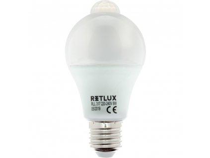 RLL 317 A60 E27 PIR žárovka 8W WW RETLUX