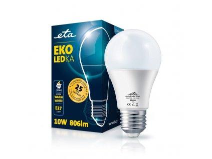 Žárovka LED ETA EKO LEDka klasik 10W, E27, neutrální bílá