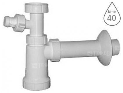 Sifon umyvadlovy bez vypusti s pripojkou em15340 5 4 x 40 mm 104 v