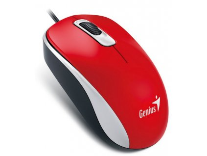 Myš Genius DX-110 / optická / 3 tlačítka / 1000dpi - červená