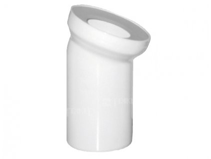 Dopojeni k wc koleno 45 110 mm bile 000 v
