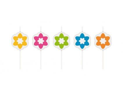 Dort.svíčky DEL.KIDS,na šp.,5ks, květinky