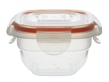 "FOOD CONTAINER ""EASY MATCH"" 100ML, SQUARE, ORANGE"