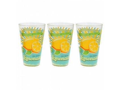 Sklenice Longdrink, 3 ks, 310 ml, citron