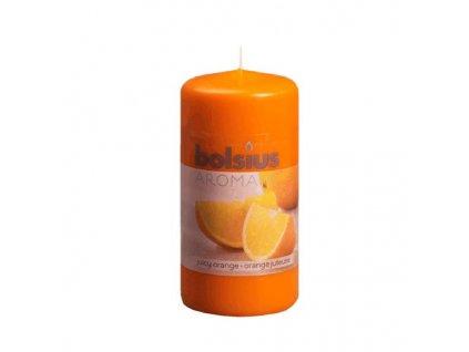 Sc. Pillar Candle 120/60mm orange