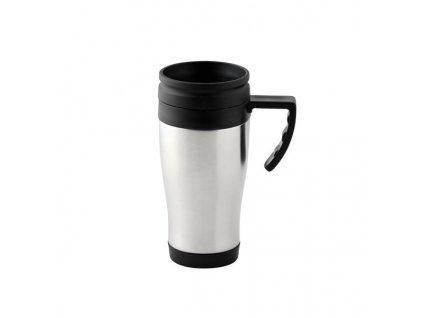 Handled lid mug - SS, 450ml