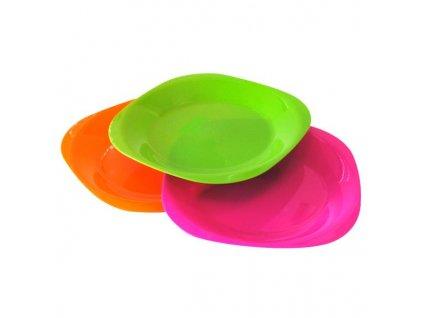 Plastový talíř set 19x19cm 4ks