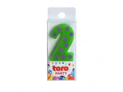 """Svíčka dortová  číslice """"2"""", zapichovací"""