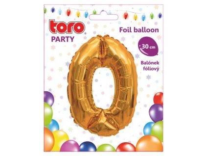 Balónek číslice  0. /30cm/