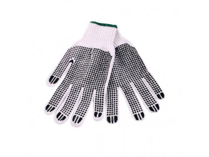 KNITTED COTTON GLOVES WITH PATTERN
