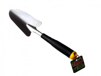 IRON GARDEN SHOVEL, PP HANDLE, 34CM