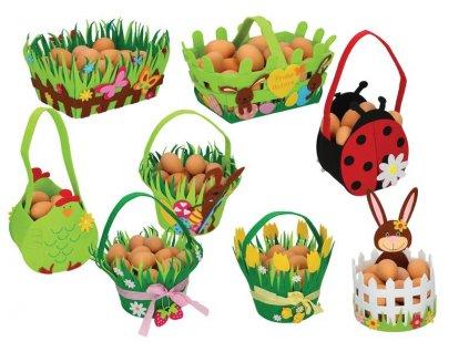 košík velikonoční plstěný