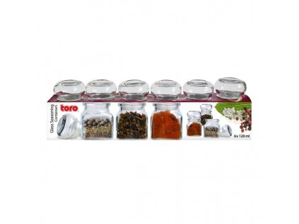 Glass containers 6x120ml