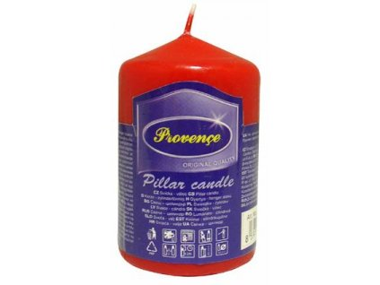 red pillar candle 50x80mm