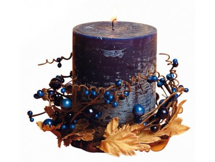 BLUEBERRY PILLAR RING CANDLE