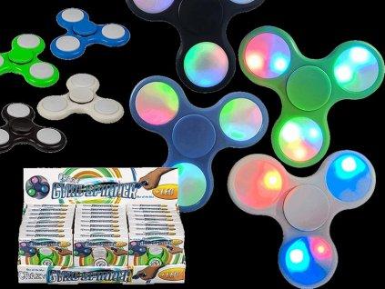 Hračka antistresová LED SPINNER