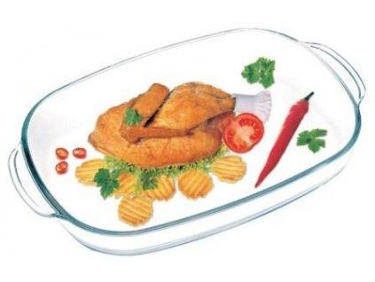 Angular glass bowl+cover 3,5 L (7296)