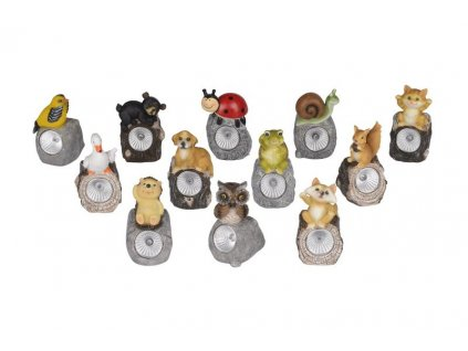 SOLAR LAMP ANIMAL OUTDOOR, 6,5X6,7X11CM, ASSORT