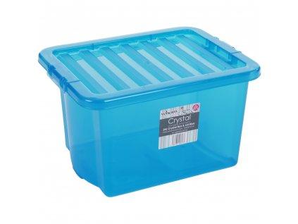 Box WHAM s víkem 24l modrá