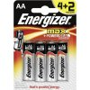 Baterie alkaline AA MAX LR06/4+2 zdarma Energizer