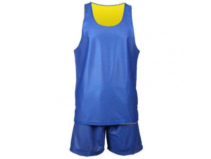 BD-1 basketbalový komplet žlutá-modrá