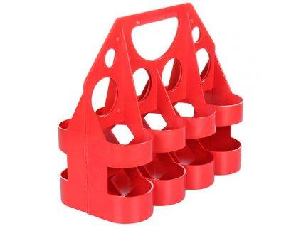 Rack Standard plastový nosič lahví červená